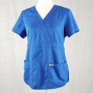 Grey's Anatomy Grey's waist Pocket Mock Wrap scrub